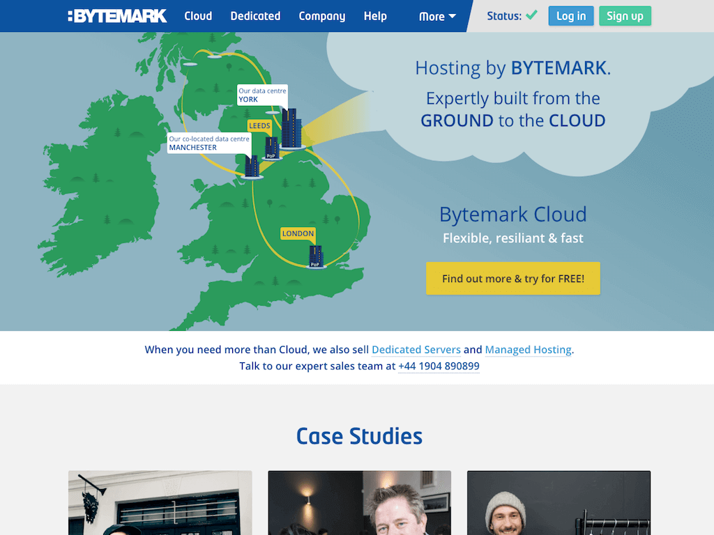Screenshot of Bytemark.co.uk